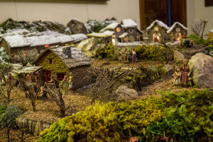 Un pessebre natural particular, l'obra d'art de cada Nadal a Montmajor