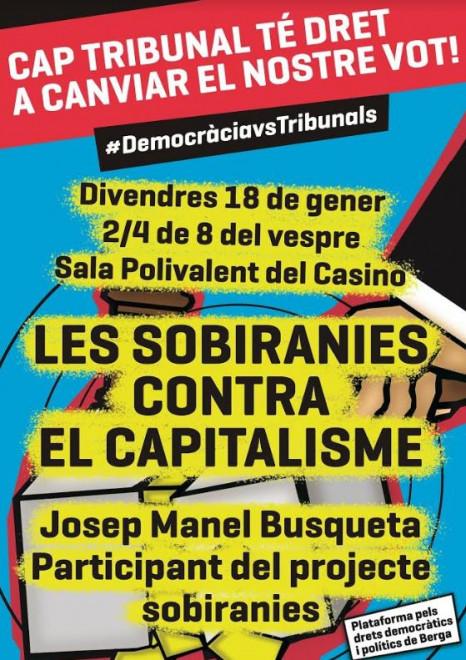 XERRADA Les sobiranies contra el capitalisme @ Sala Polivalent del Casino (BERGA)