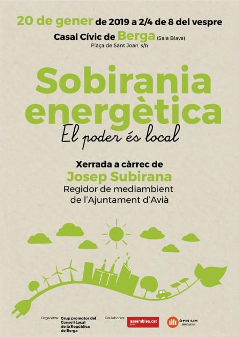 XERRADA Sobirania energètica. El poder és local. @ Casal Cívic de Berga