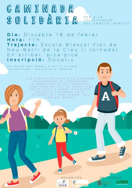 Caminada solidària amb el càncer infantil @ Sortida des de l'Escola Bressol Flor de Neu (BERGA)
