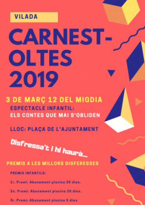 Carnestoltes infantil a Vilada 2019 @ Plaça de l'Ajuntament (VILADA)