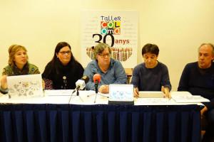 Els professionals del Taller Coloma donen suport a l'exgerent, Fina Canal