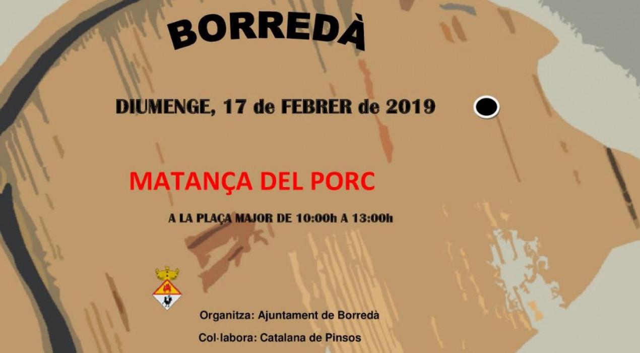 Matança del porc de Borredà 2019