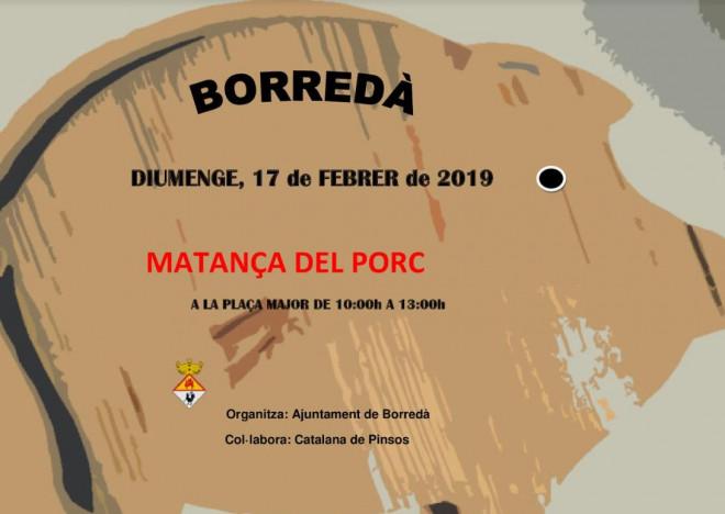 Matança del porc de Borredà 2019 @ Plaça Major de Borredà