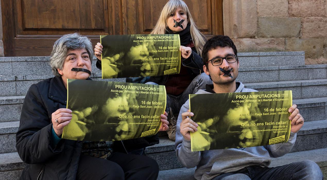 La plataforma de suport a Venturós busca 100 persones per una 'performance' al carrer Major