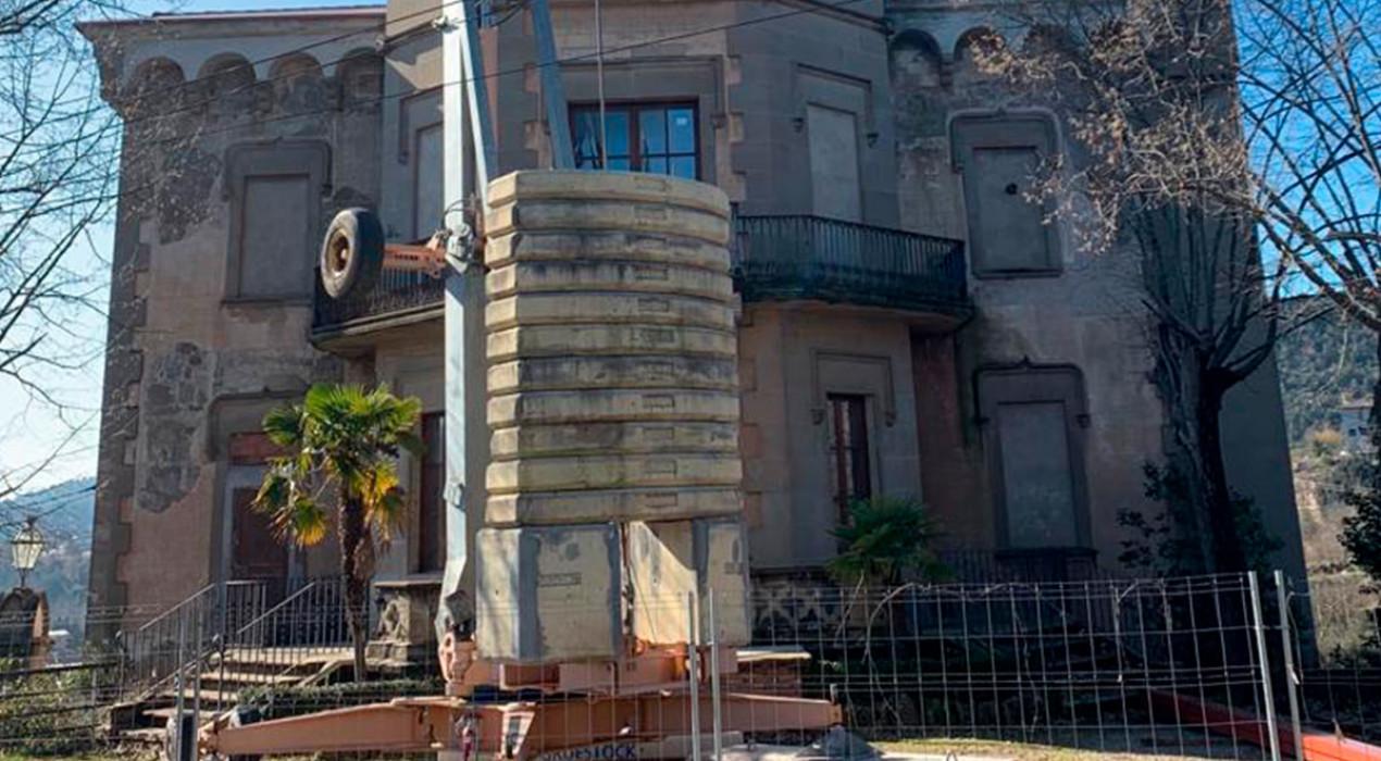 Comença la rehabilitació de la Torre Nova de Cal Pons després d'anys d'espera