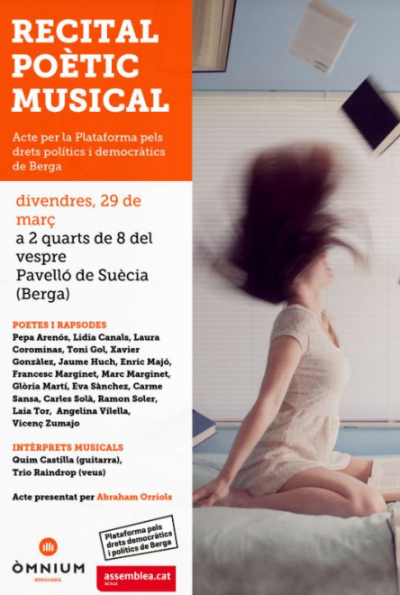Recital poètic musical @ Pavelló de Suècia (BERGA)