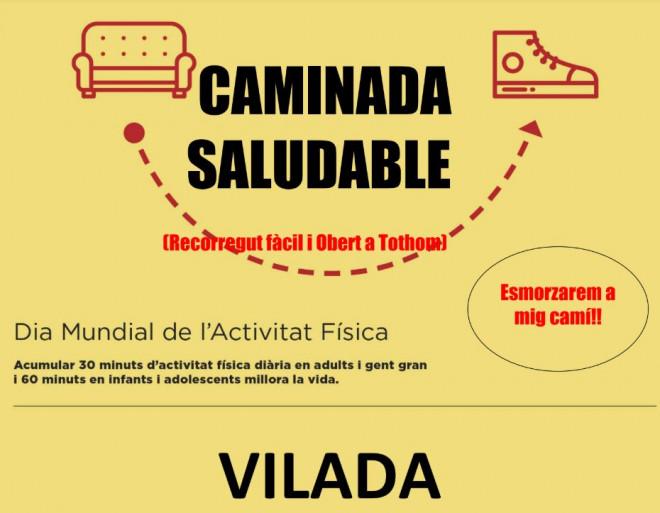 Caminada saludable a Vilada @ SORTIDA: Ajuntament de Vilada