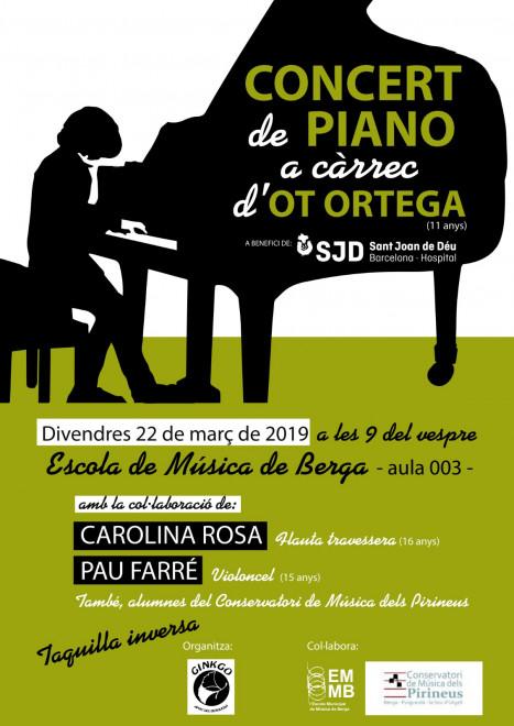 Concert de piano @ Escola de Música de BERGA