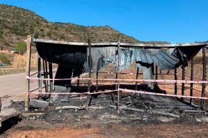 L'àrea d'emergència de residus de Puig-reig queda calcinada
