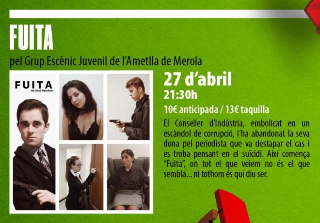 TEATRE: Fuita @ Teatre Esplai L'Ametlla de Merola