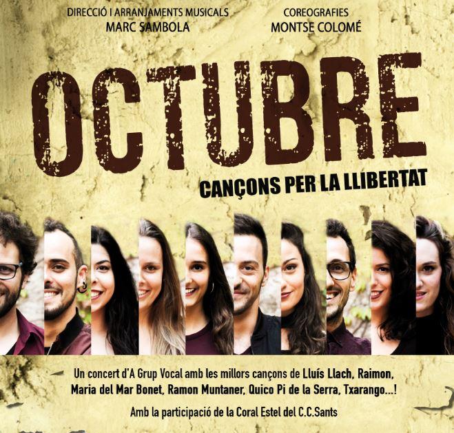 Octubre. Cançons per la llibertat @ Teatre Esplai L'Ametlla de Merola