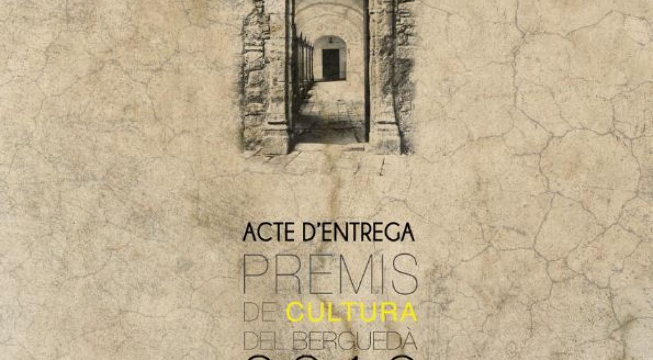 Acte de lliurament dels Premis de Cultura del Berguedà 2019
