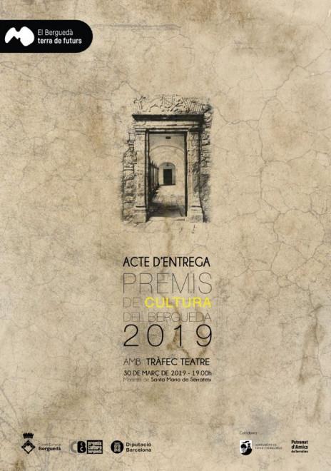 Acte de lliurament dels Premis de Cultura del Berguedà 2019 @ Santa Maria de Serrateix