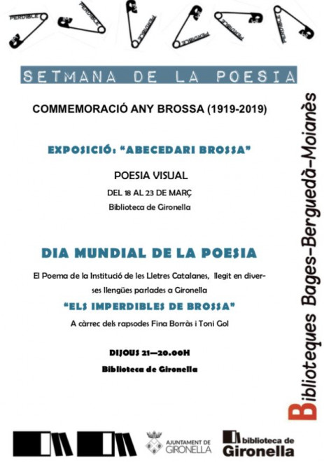 Dia Mundial de la Poesia 2019 a Gironella @ Biblioteca de Gironella