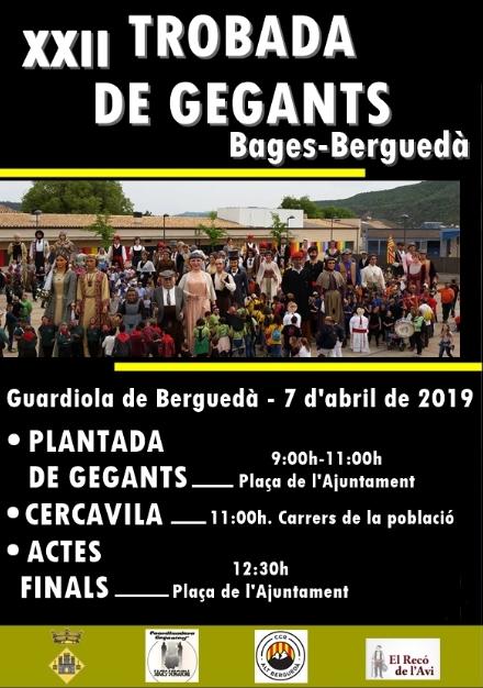 XXII Trobada de gegants Bages - Berguedà @ Guardiola de Berguedà