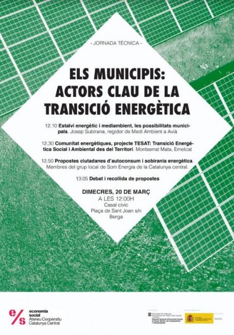 Els municipis: actors claus de la transició energètica @ Casal Cívic de BERGA