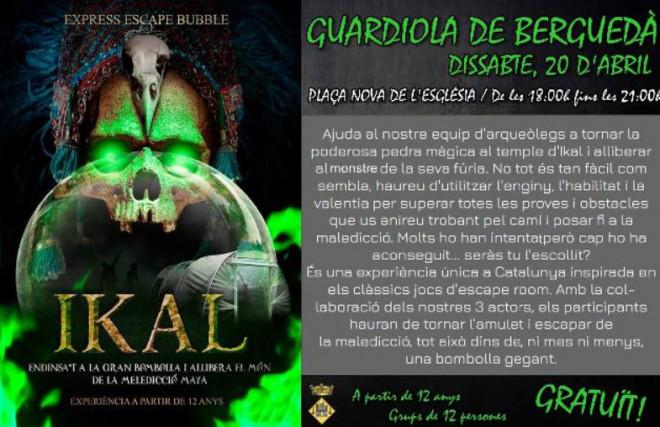 EXPRESS ESCAPE BUBBLE @ Plaça Nova de l'Església (GUARDIOLA DE BERGUEDÀ)
