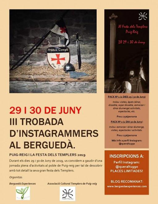 III Trobada d'Instagramers del Berguedà @ Puig-reig - Festa dels Templers