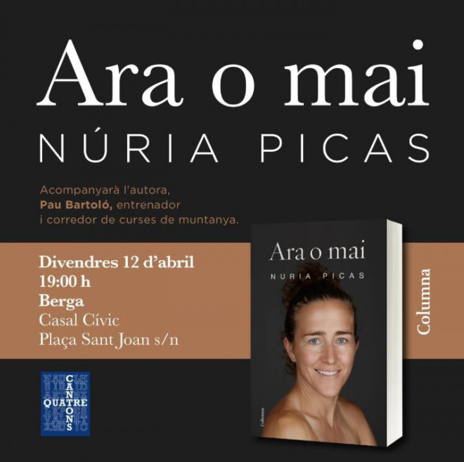 """Presentació del llibre """"ARA O MAI"""" de Núria Picas @ Casal Cívic (BERGA)"""