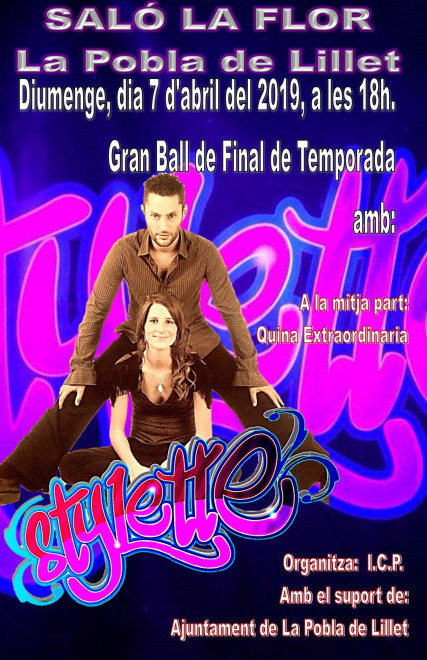 Ball a La Pobla de Lillet: STYLETTE @ Saló La Flor (LA POBLA DE LILLET)