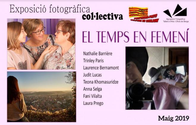 """Exposició """"El temps en femení"""" @ Biblioteca Ramon Vinyes i Cluet (BERGA)"""