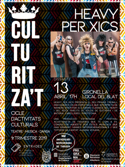 Culturitza't: HEAVY PER XICS @ Local del Blat (GIRONELLA)