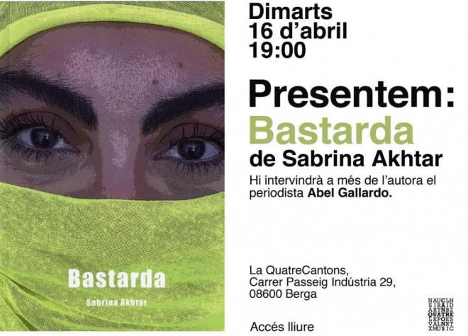 Presentació BASTARDA, de Sabrina Akhtar @ Llibreria QuatreCantons (BERGA)