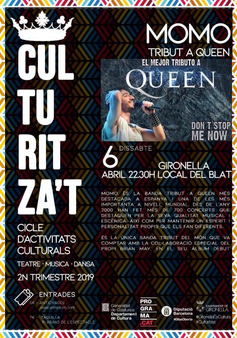 Culturitza't: MOMO. Tribut Queen @ Local del Blau (GIRONELLA)