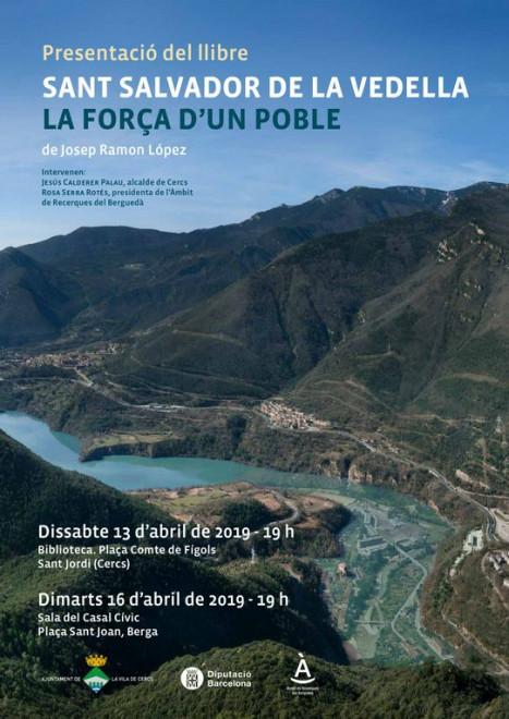 Presentació llibre SANT SALVADOR DE LA VEDELLA LA FORÇA D'UN POBLE @ Casal Cívic de BERGA