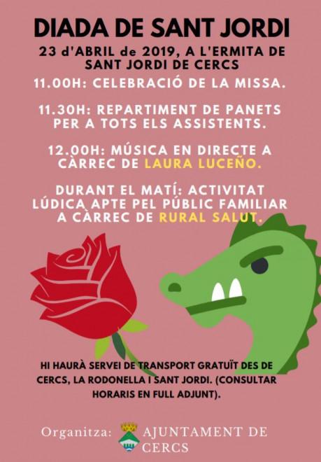 Sant Jordi 2019 a Cercs @ Ermita de Sant Jordi de Cercs