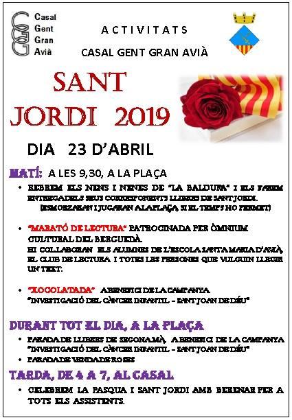 Sant Jordi 2019 a Avià @ Avià