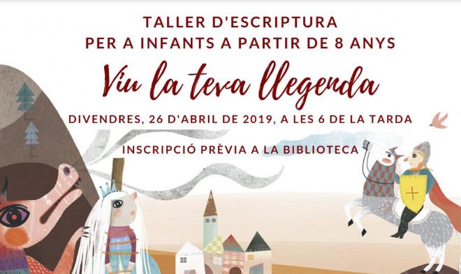 Taller d'escriptura Viu la teva llegenda @ Biblioteca Ramon Vinyes i Cluet (BERGA)