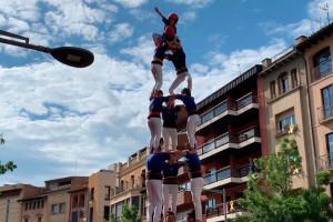 Els Castellers de Berga consagren 3 de 7 en una diada àgil i vistosa a Vic