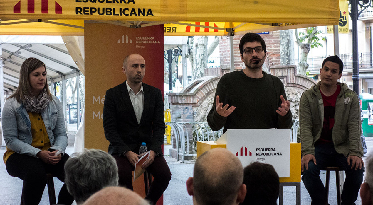 """Esquerra es presenta a Berga com """"l'alternativa per millorar el que hem vist fins ara"""" i prioritza el barri vell"""