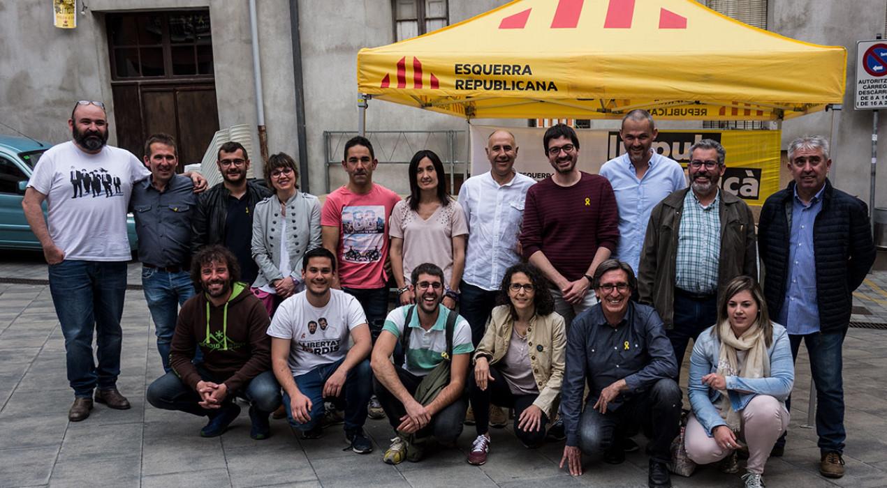 """ERC presenta els seus 25 alcaldables al Berguedà i celebra haver trencat amb """"una etapa d'hegemonia convergent"""""""