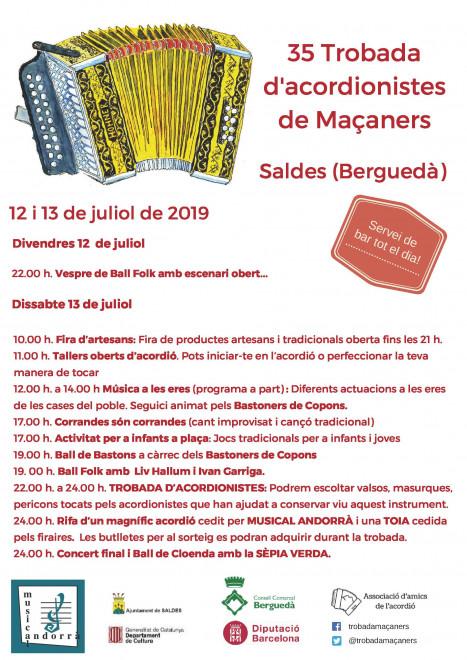 35ª TROBADA D'ACORDIONISTES DE MAÇANERS @ MAÇANERS