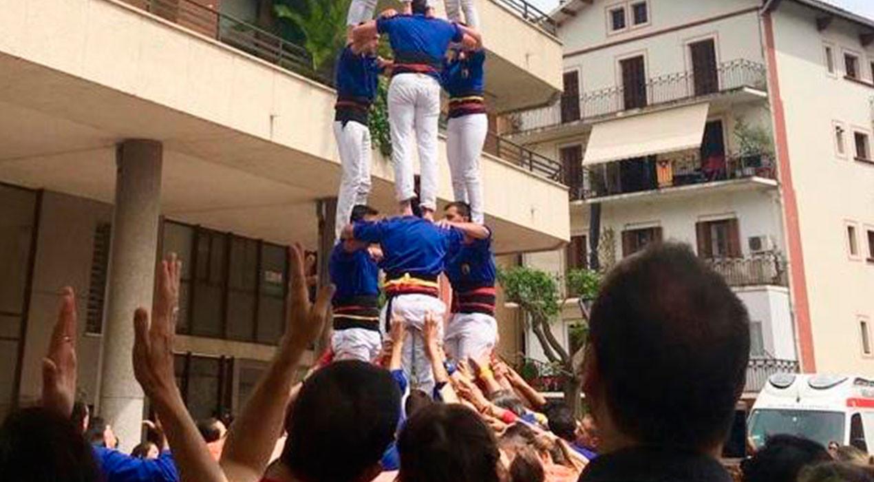 Els Castellers de Berga culminen a Puig-reig el setè 3 de 7 de la temporada