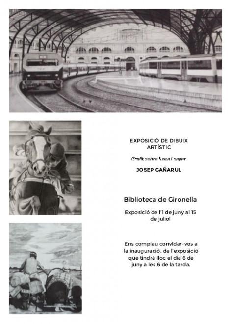 Inauguració exposició de dibuix artístic @ Biblioteca de Gironella