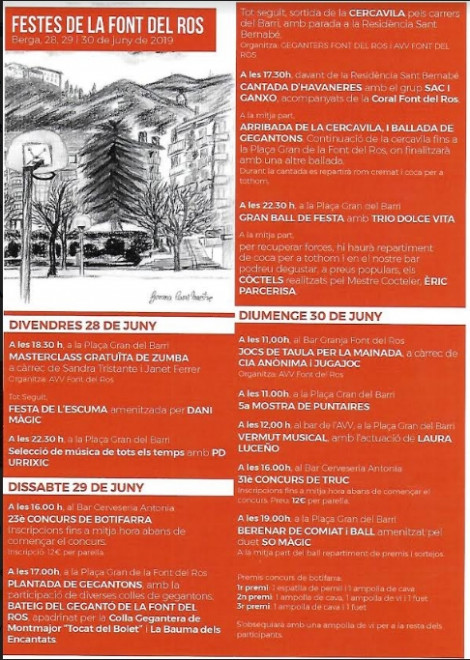 Festa de la Font del Ros 2019 @ Barri de la Font del Ros (BERGA)