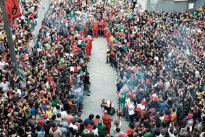 Les maces dediquen el primer salt del passacarrers de dimecres a Josep Tor