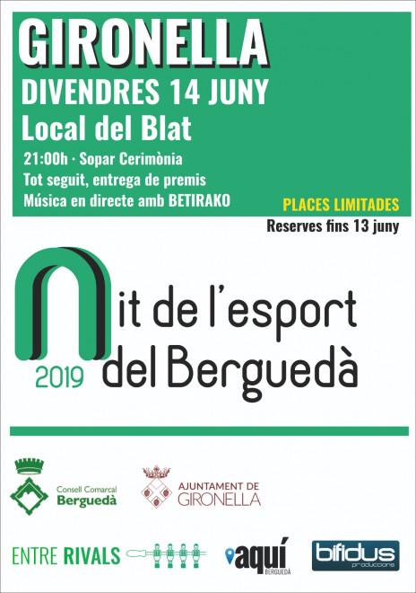 Nit de l'Esport del Berguedà 2019 @ Local del Blat (GIRONELLA)