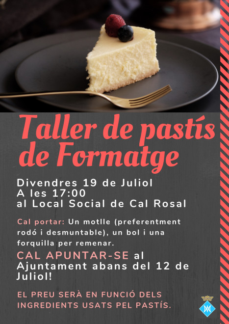 Taller de cuina: pastís de formatge