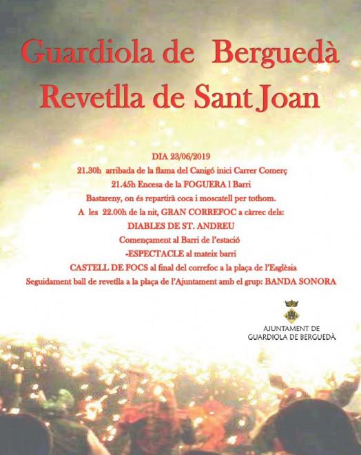 Revetlla Sant Joan GUARDIOLA DE BERGUEDÀ 2019 @ Guardiola de Berguedà