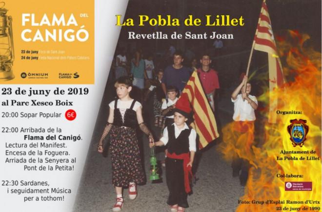 Revetlla Sant Joan LA POBLA DE LILLET 2019 @ Parc Xesco Boix (LA POBLA DE LILET)
