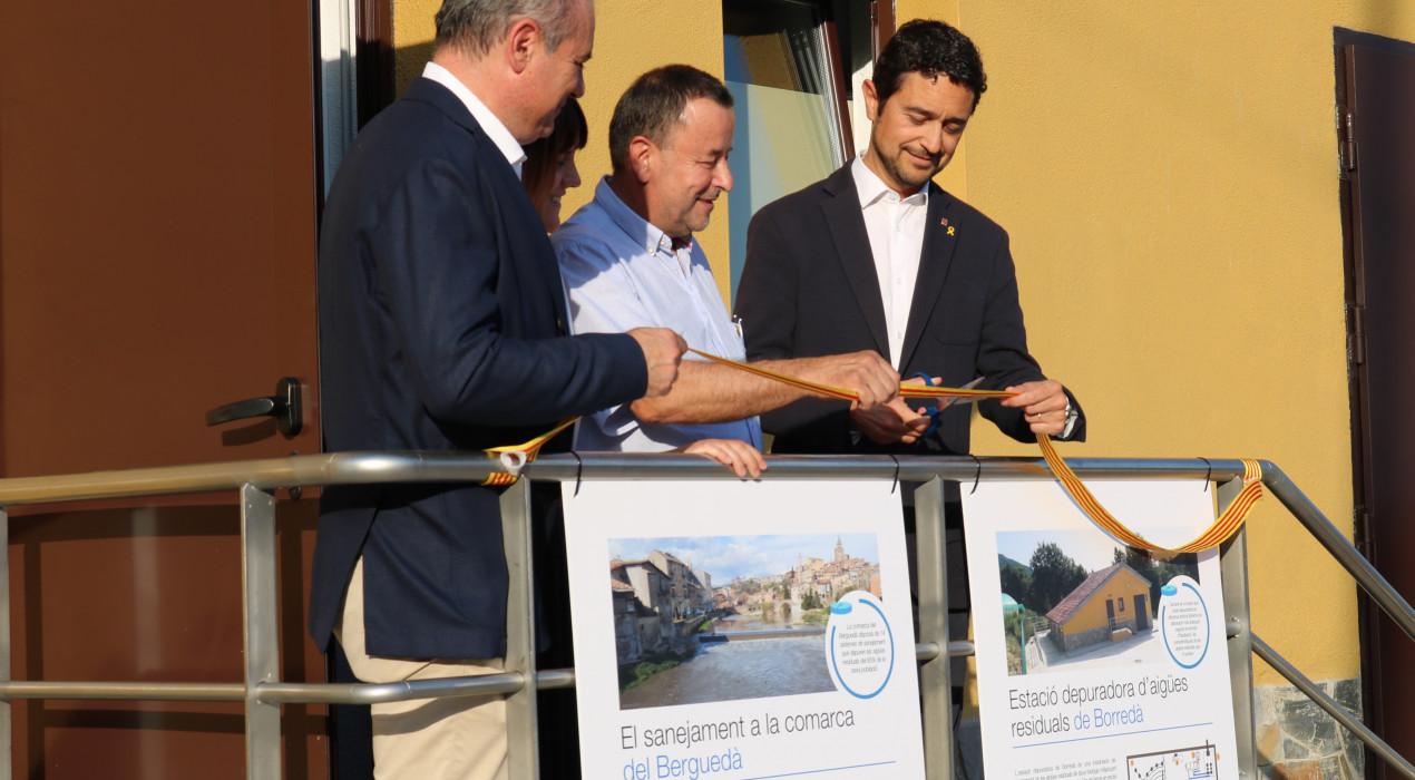 S'inaugura la depuradora de Borredà setze anys després d'aprovar-se el projecte