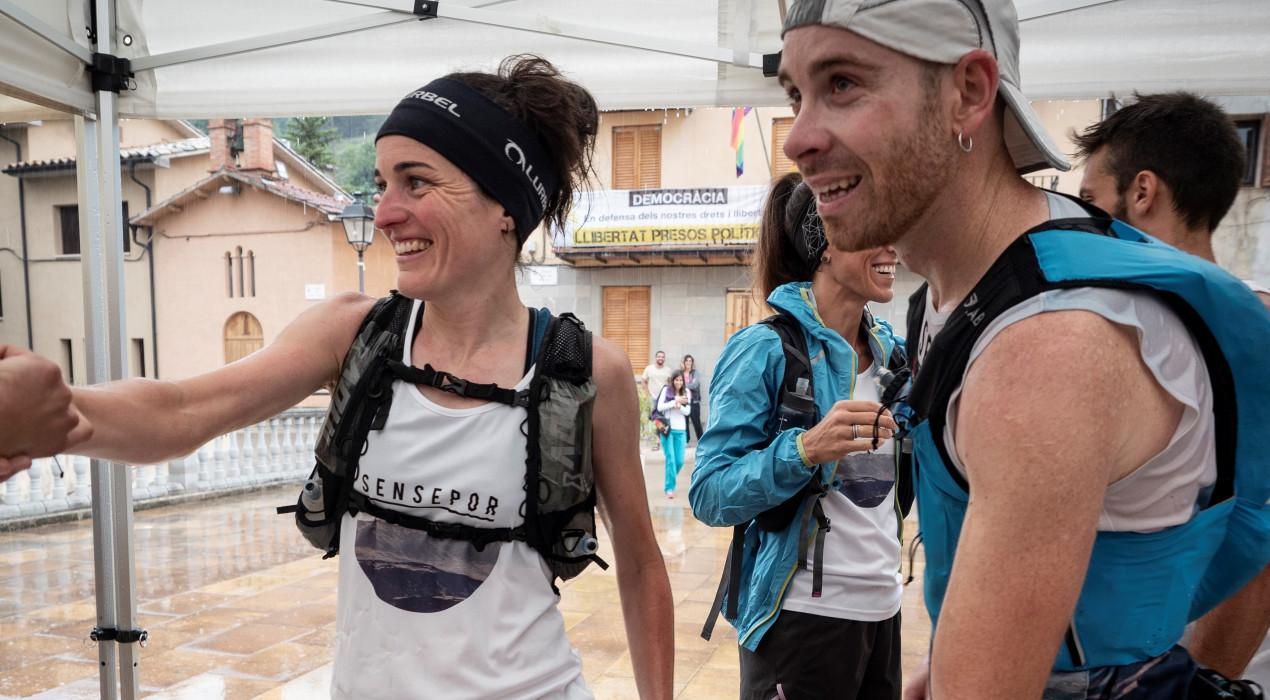 Judit Franch i Pau Ventura travessen el Berguedà corrent per recaptar fons contra el càncer