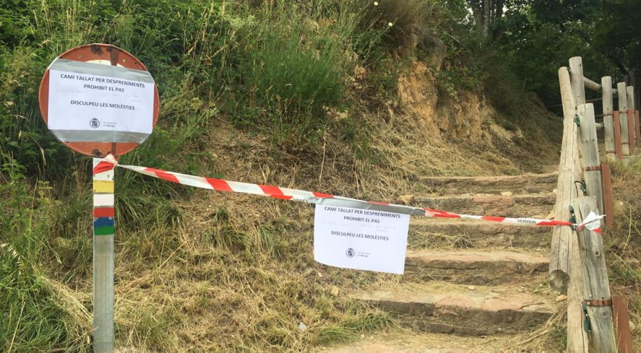 L'Ajuntament de Berga tanca la drecera de Fumanya a Queralt pel risc de nous despreniments