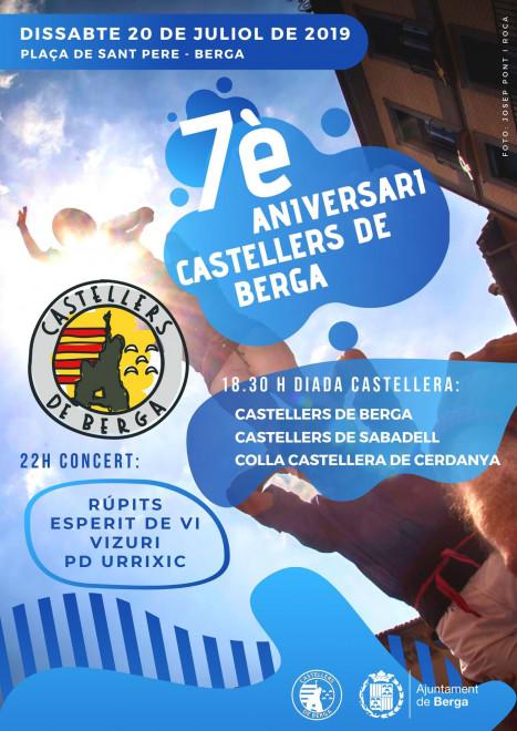 7è aniversari Castellers de Berga @ Plaça Sant Pere (BERGA)