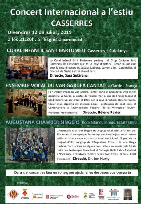 Concert Internacional d'estiu de CASSERRES 2019 @ Església parroquial de CASSERRES